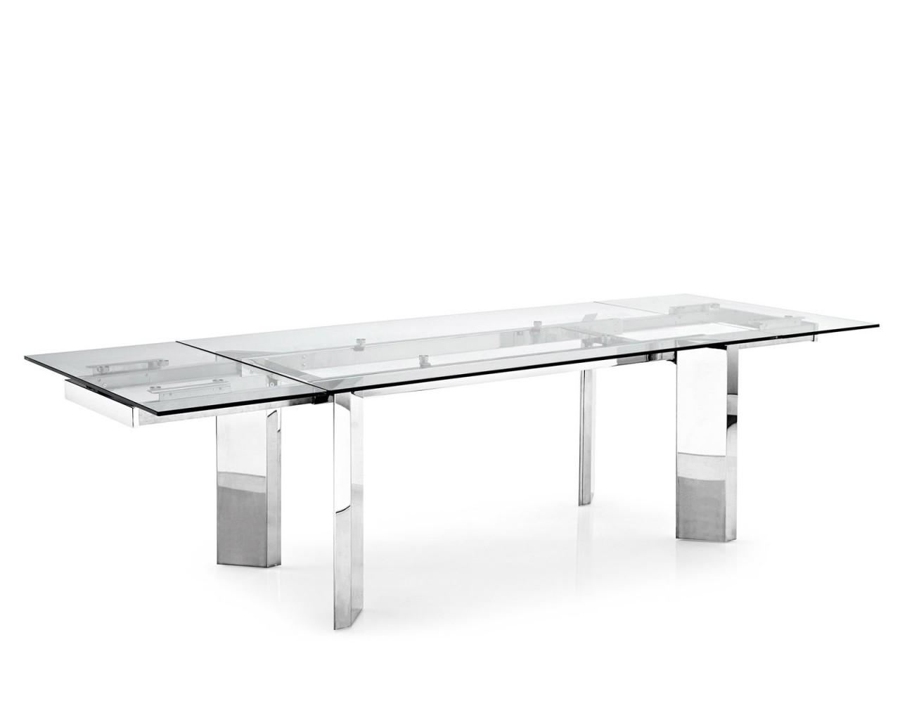 Tower tavolo allungabile tavoli torino calligaris for Tavolo vetro bianco calligaris