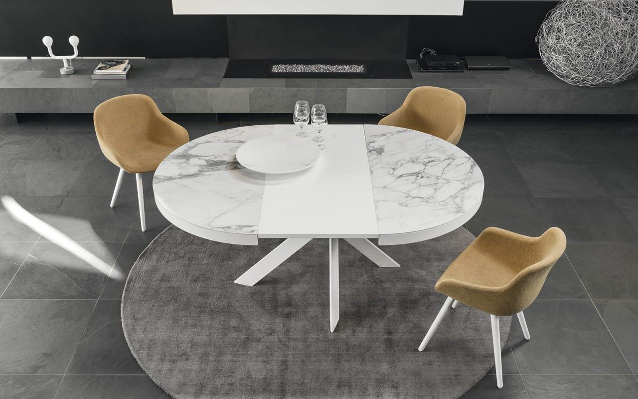 Tivoli tavolo allungabile tavoli torino calligaris for Tavolo apribile