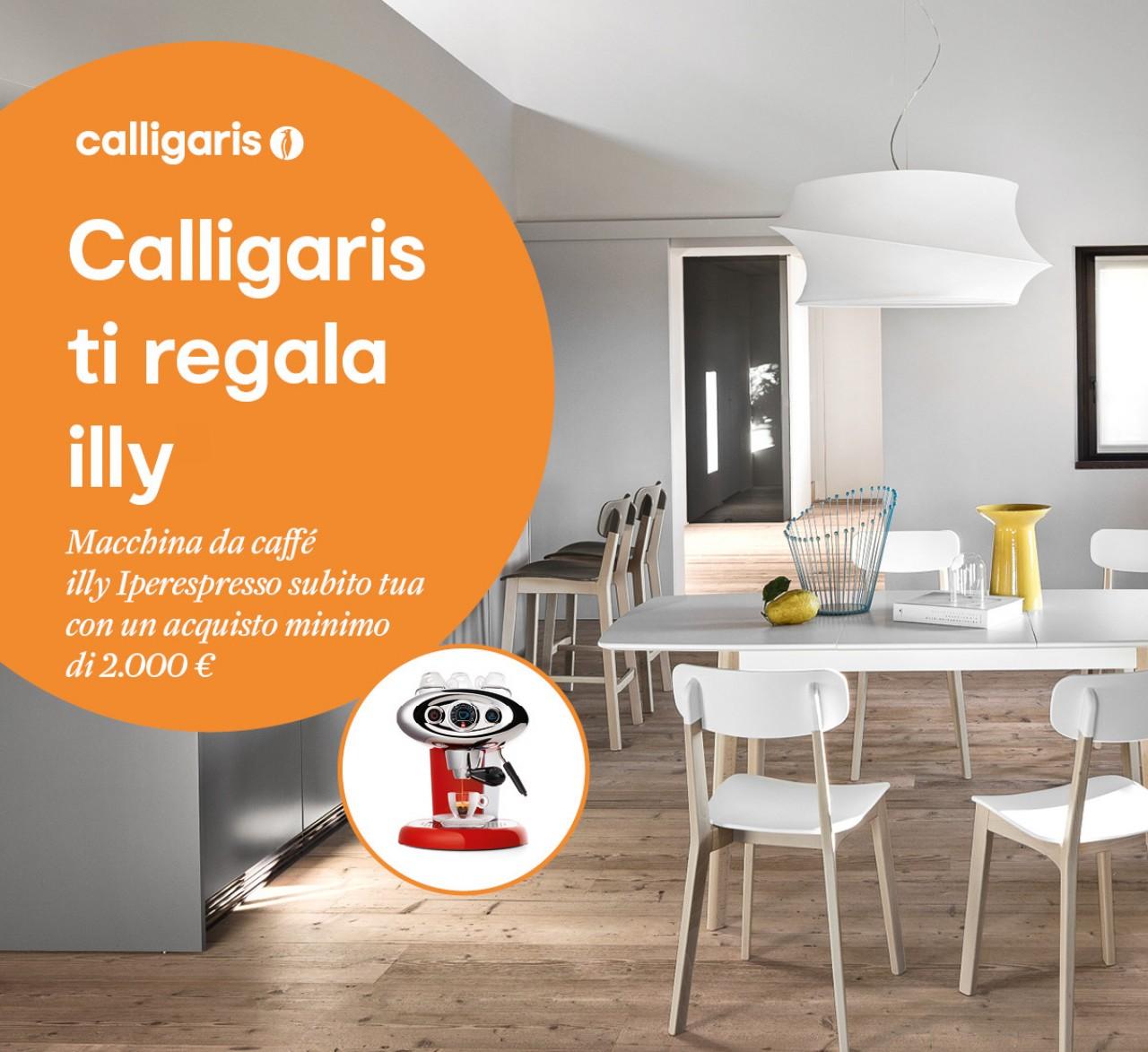 Calligaris regala illy offerte calligaris torino for Ad arredamenti torino